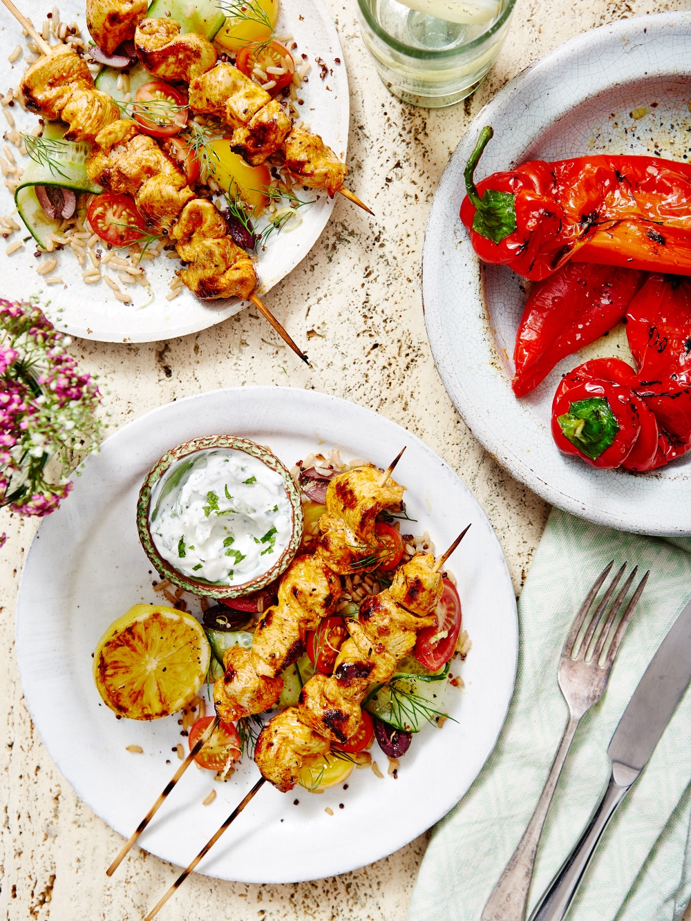 Greek-Chicken-Kebabs-With-Ancient-Grain-Salad