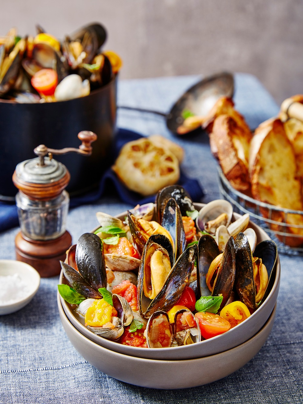 Clams + Mussels